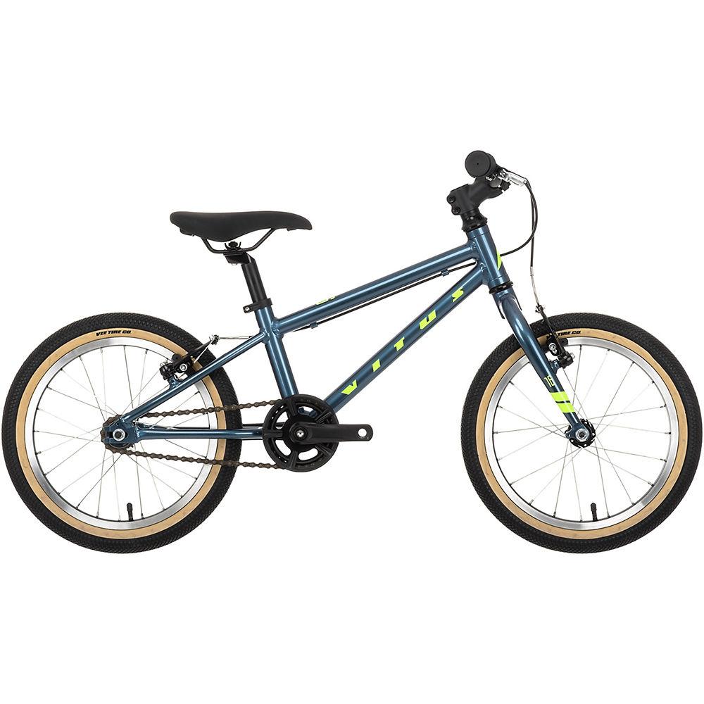 Rad Vitus 16 Kinderfahrrad 2021 - Slate Blue-Lime für Kinder bei Wiggle Sports