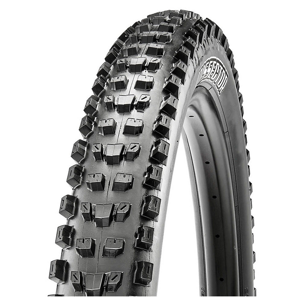 Image of Maxxis Dissector DH Tyre - 3CG - DH - TR - WT - Black - Folding Bead, Black