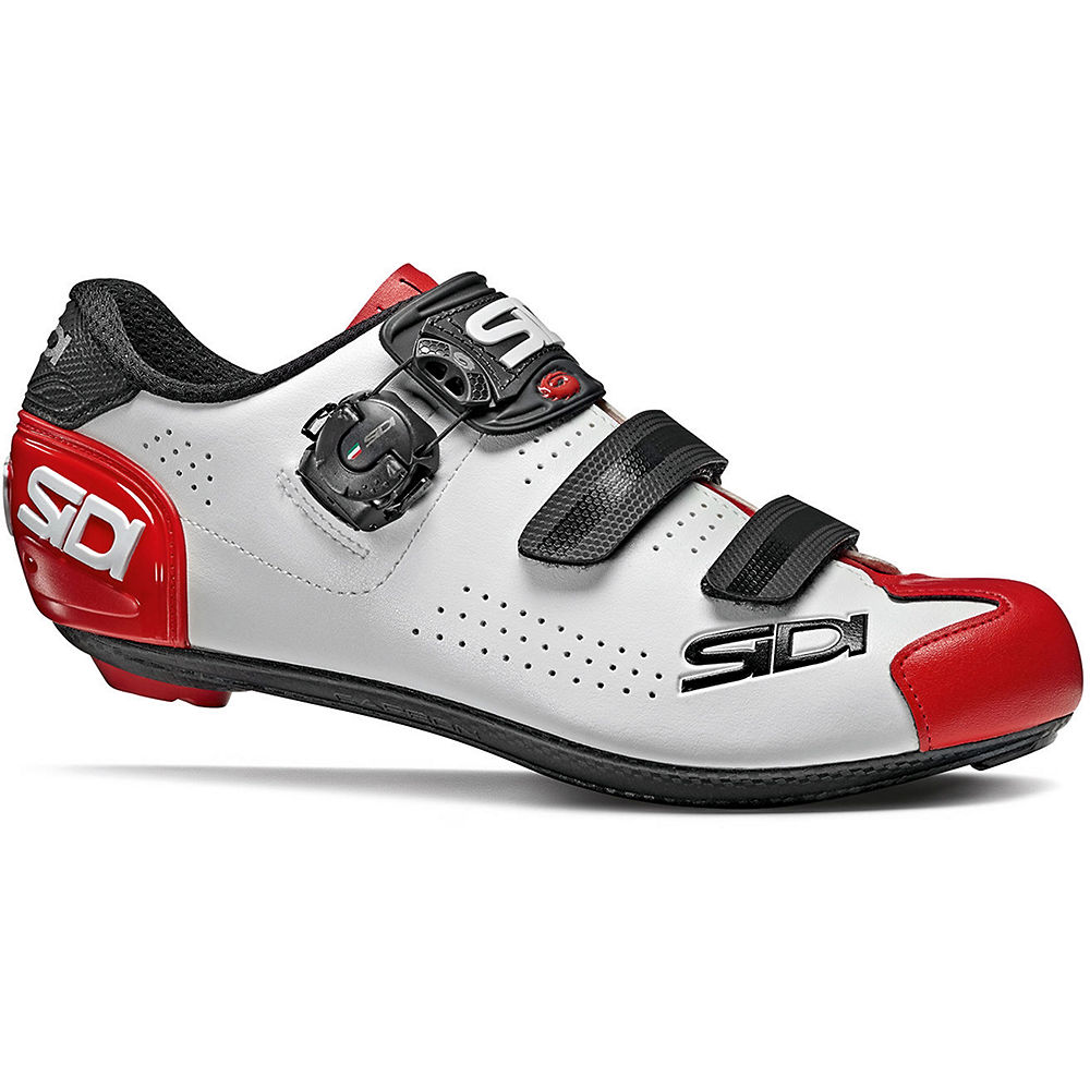 Sidi Alba 2 Road Shoes 2020 – White-Black-Red – EU 40, White-Black-Red