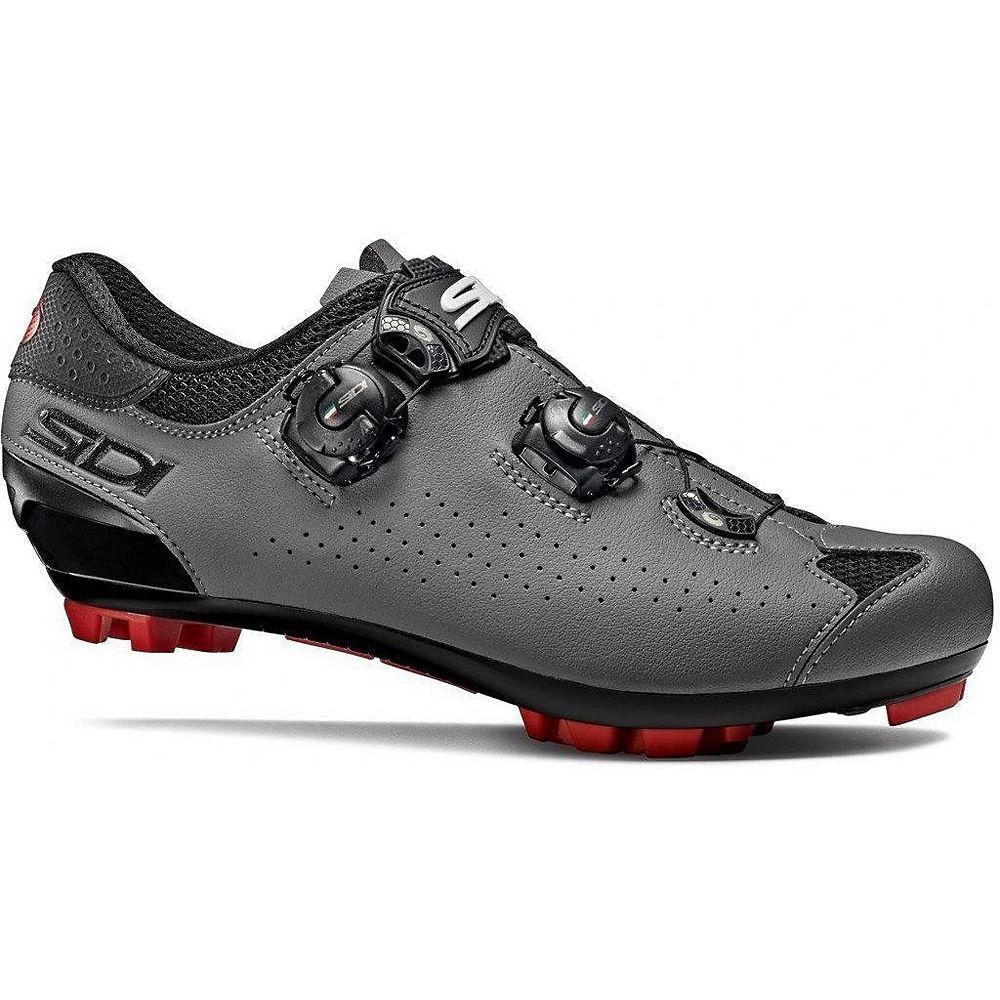 Sidi Eagle 10 MTB Shoes - Black-Grey - EU 44.5, Black-Grey