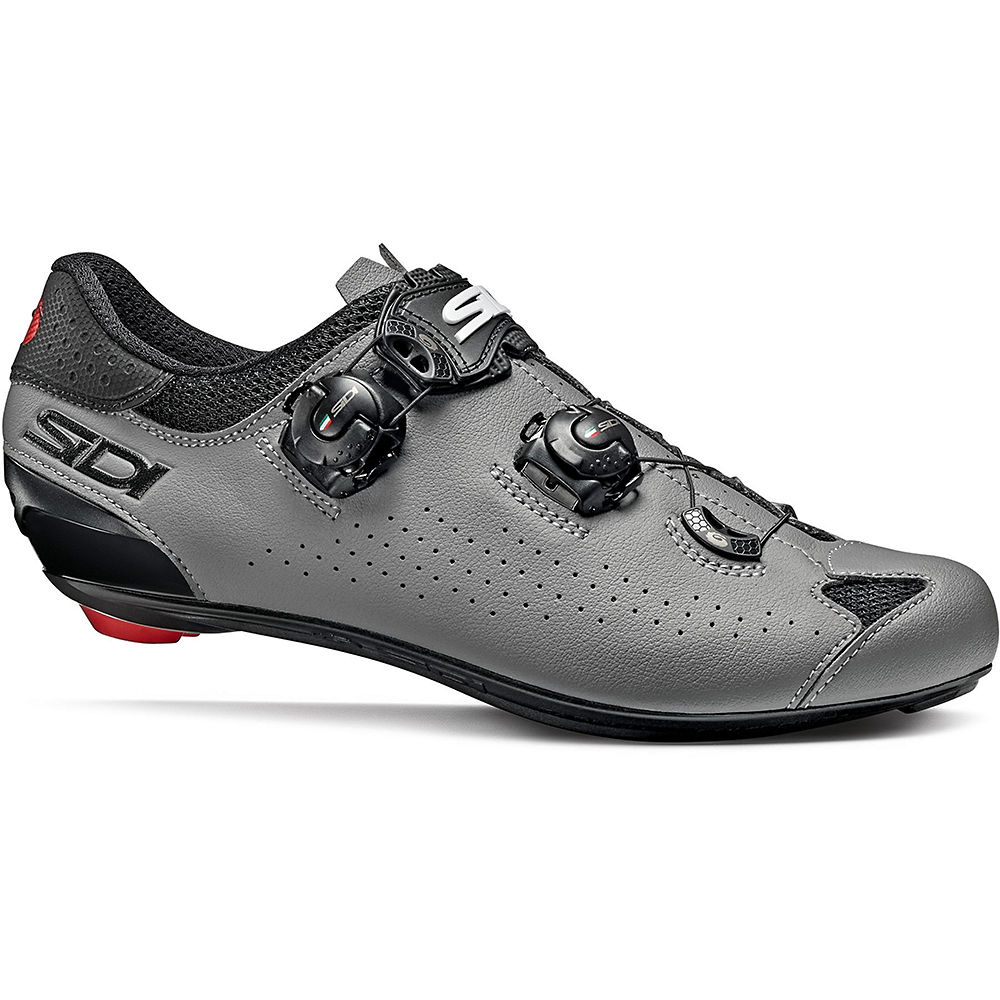 Sidi Genius 10 Road Shoes - Black-Grey - EU 45.3, Black-Grey