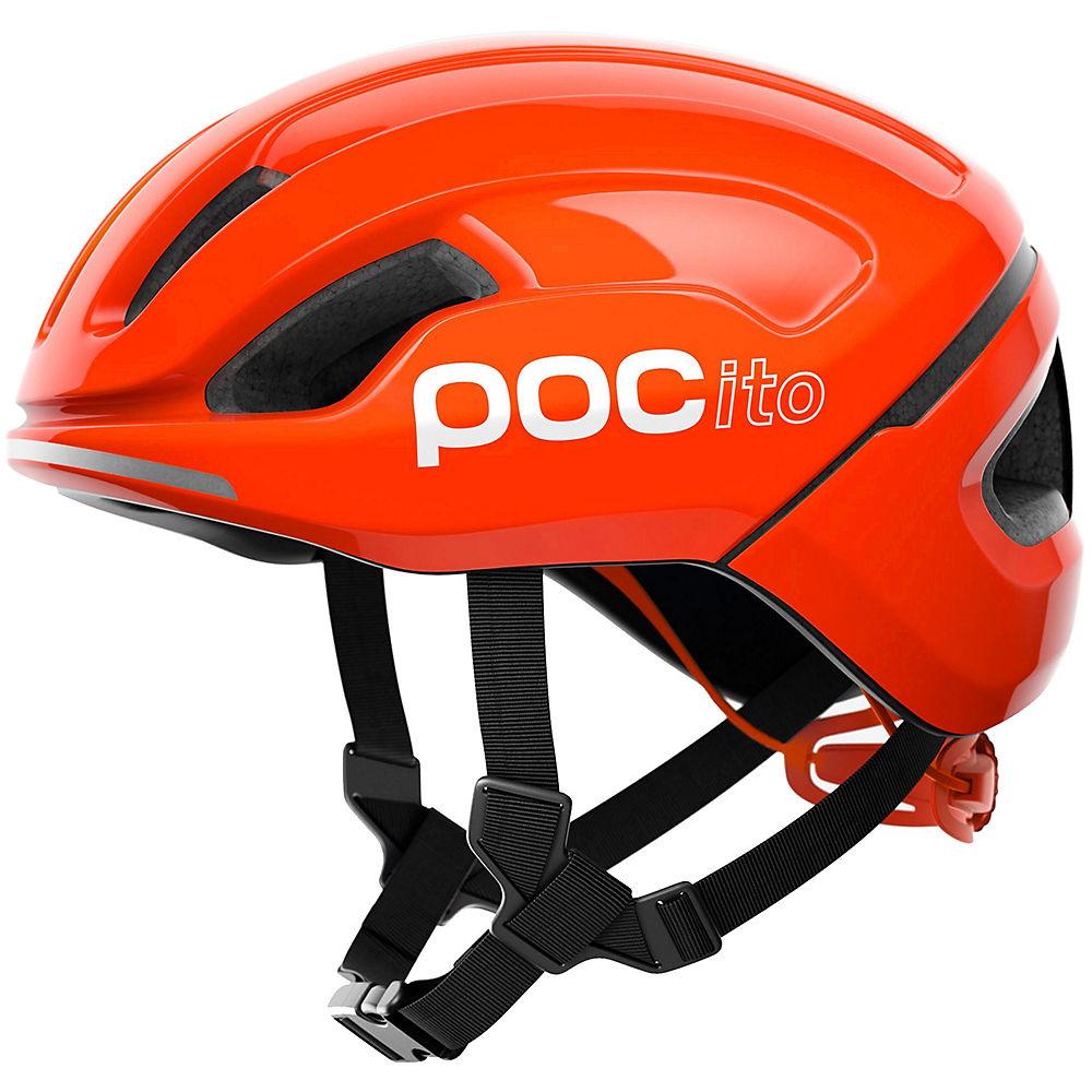 POC POCito Omne AIR SPIN Helmet 2020 – Fluorescent Orange, Fluorescent Orange