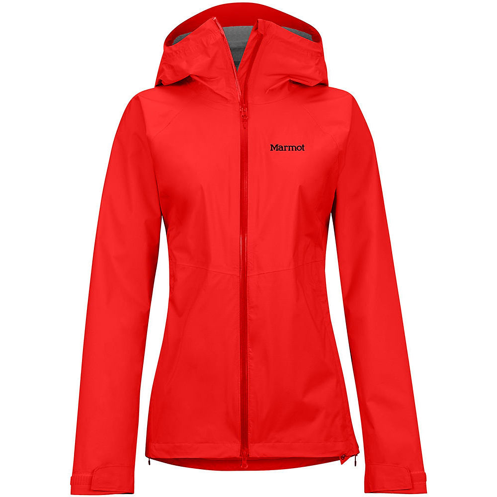Image of Marmot Women's PreCip Stretch Waterproof Jacket - Victory Red - L, Victory Red