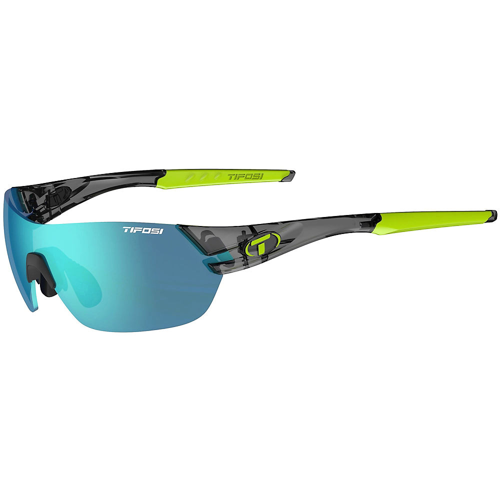 Image of Tifosi Slice Crystal Smoke 3 Lens Sunglasses - Crystal Black-Clarion, Crystal Black-Clarion