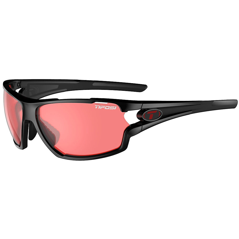 Tifosi Amok Crystal Black Sunglasses - Crystal Black Enlive, Crystal Black Enlive