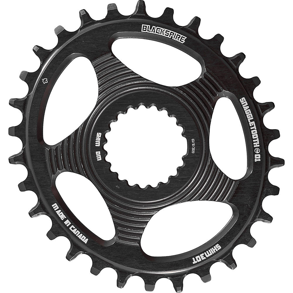 Blackspire Snaggletooth DM Oval Shimano Chainring - Direct Mount, Black
