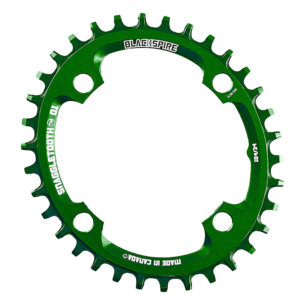 Blackspire Snaggletooth 104 Oval Shimano Chainring - Lime Green - 4-Bolt, Lime Green