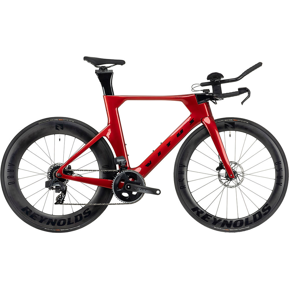 Vitus Auro CRS Disc eTap AXS TT Bike (Force) 2021 - Candy Red - L, Candy Red