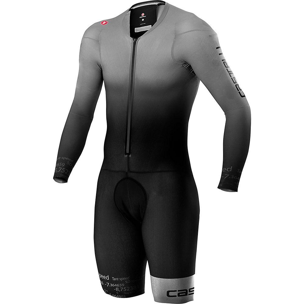 Castelli Body Paint 4.x Speed Suit Long Sleeve - Silver Grey-black - Xxl  Silver Grey-black