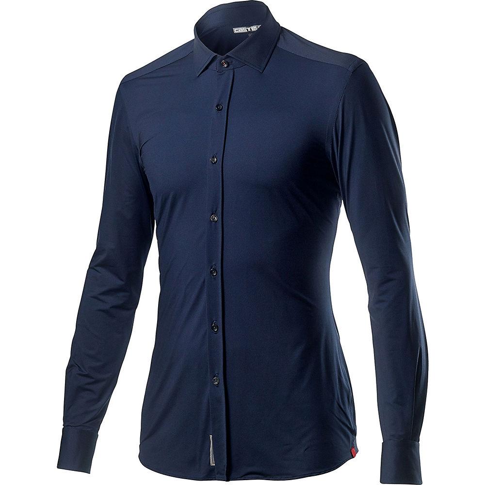 Castelli VG Button Shirt  - Dark Infinity Blue, Dark Infinity Blue