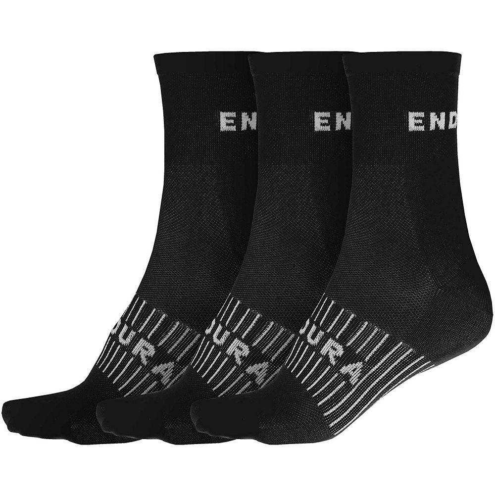 Endura Coolmax Race Socks (3-pack) - Black - S/m  Black