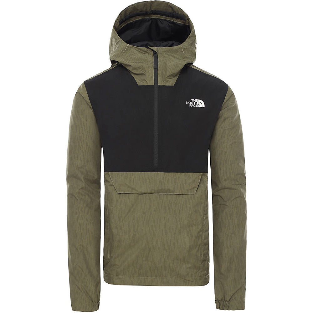 The North Face Waterproof Fanorak  - Burnt Olive Green Rain Camo Print  Burnt Olive Green Rain Camo Print