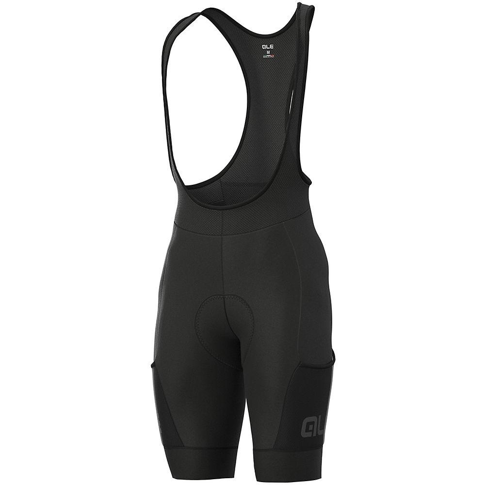Alé Stones Cargo Bib Shorts  – Black – XL, Black