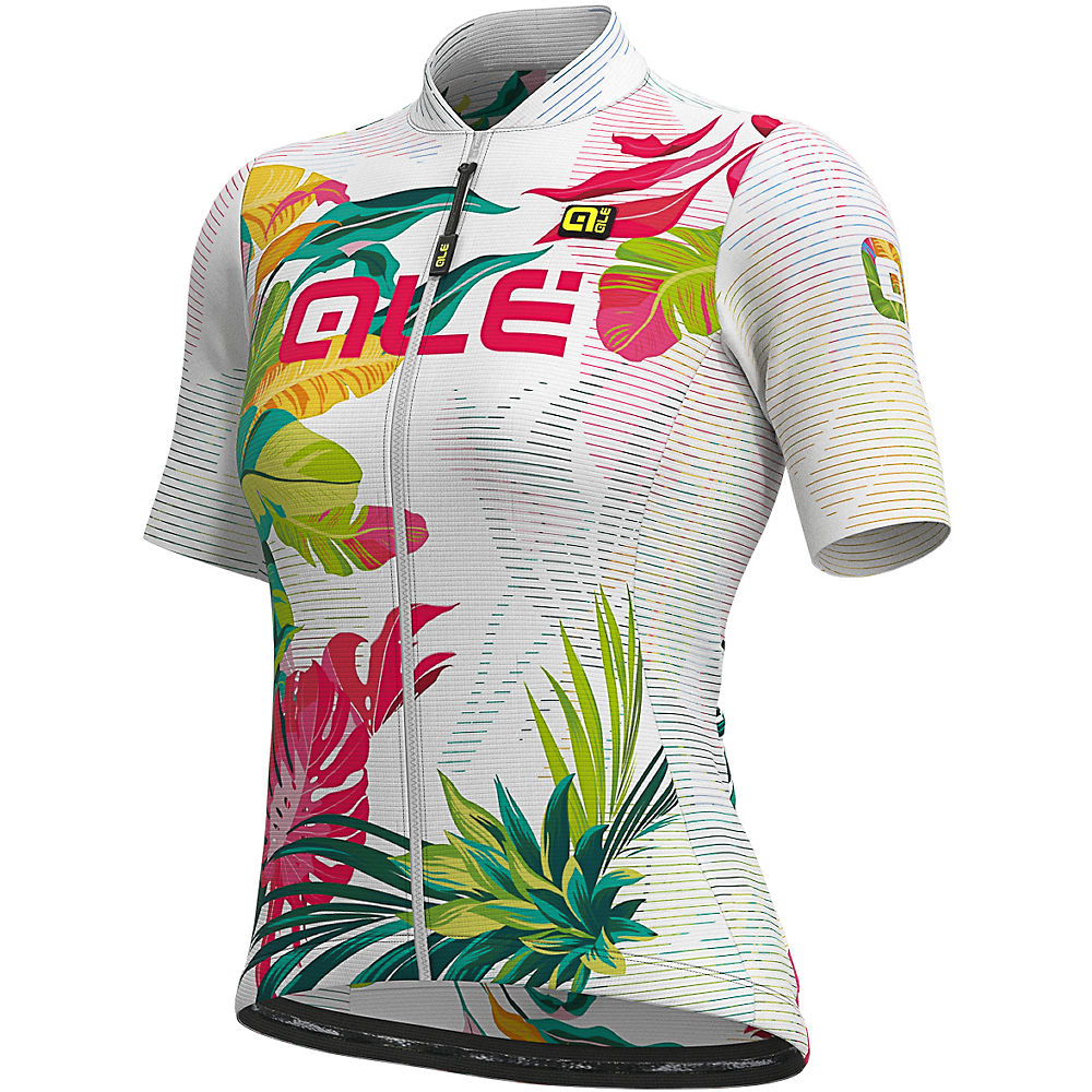 Alé Women's Solid Tropika Jersey  – White-Multi – XL, White-Multi