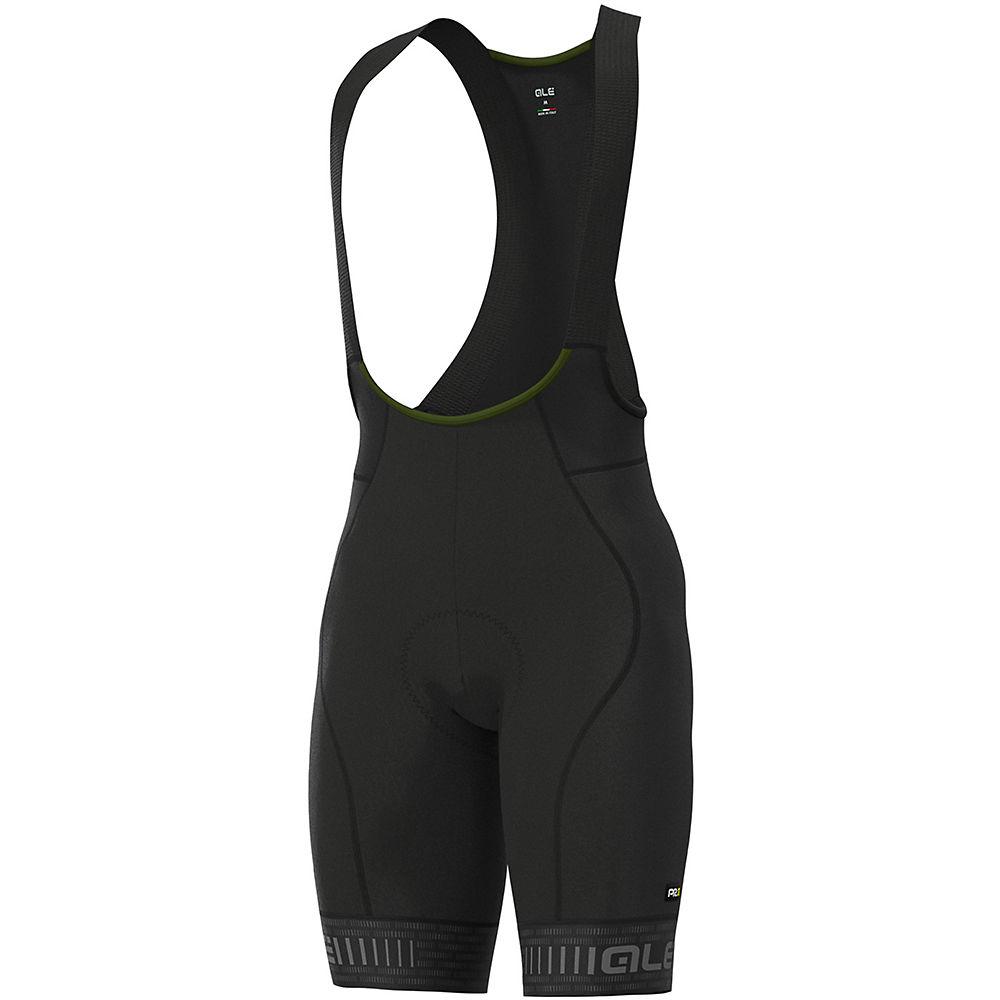 Alé Graphics PRR Green Road Bib Shorts - Black-Charcoal Grey - M, Black-Charcoal Grey