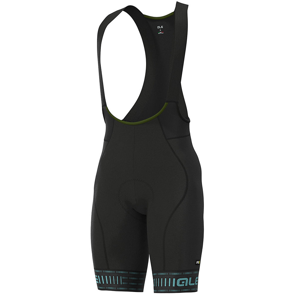 Alé Graphics PRR Green Road Bib Shorts - Black-Turquoise - XL, Black-Turquoise