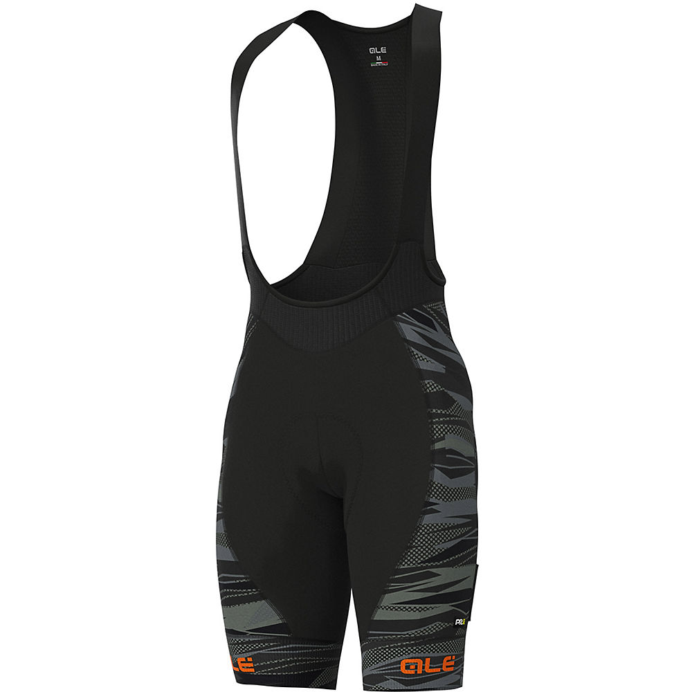 Alé Graphics PRR Rock Bib Shorts - Black-Fluro Orange - XXL, Black-Fluro Orange