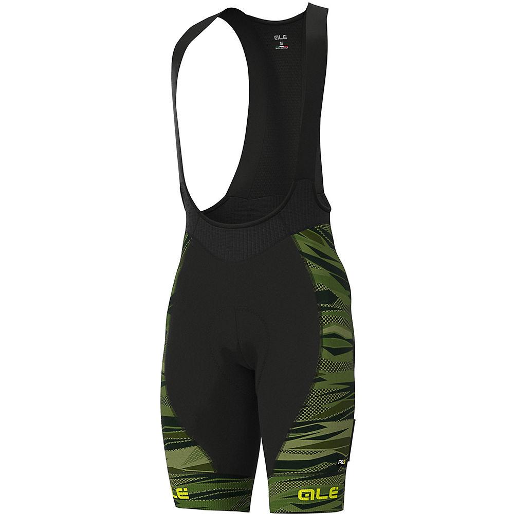 Alé Graphics PRR Rock Bib Shorts - Green-Fluro Yellow - XL, Green-Fluro Yellow