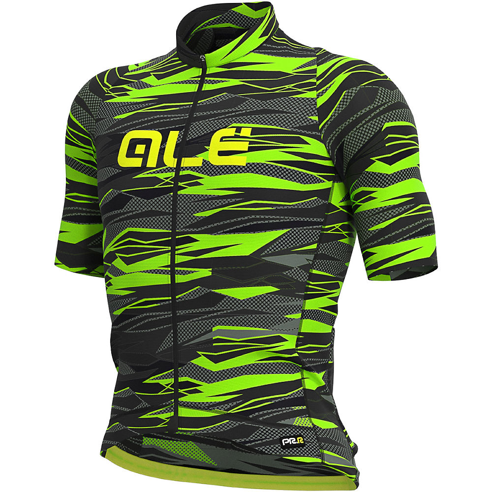 Alé Graphics PRR Rock Jersey - Black-Fluro Green - XS, Black-Fluro Green