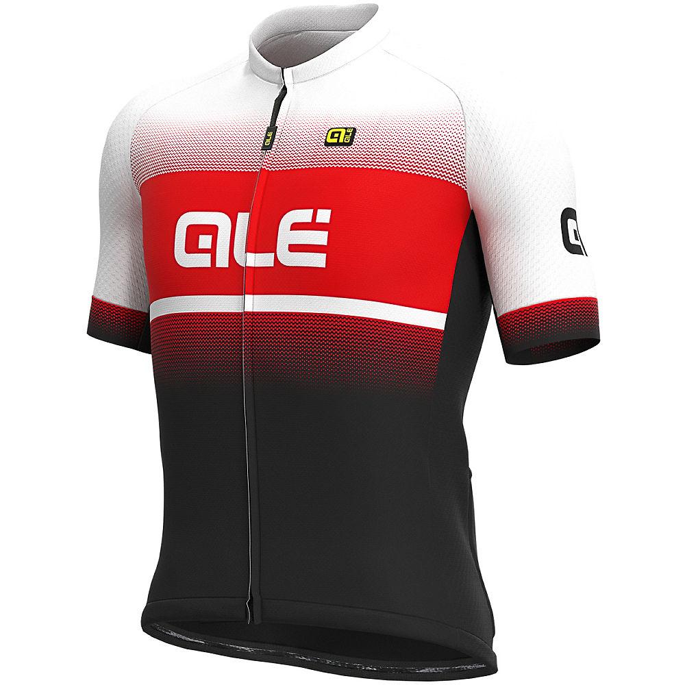 Alé Solid Blend Jersey  – BLACK-RED – XL, BLACK-RED