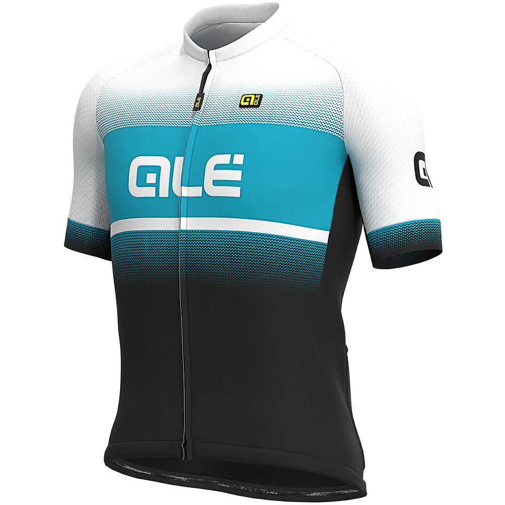 Alé Solid Blend Jersey  – Black-Turquoise, Black-Turquoise