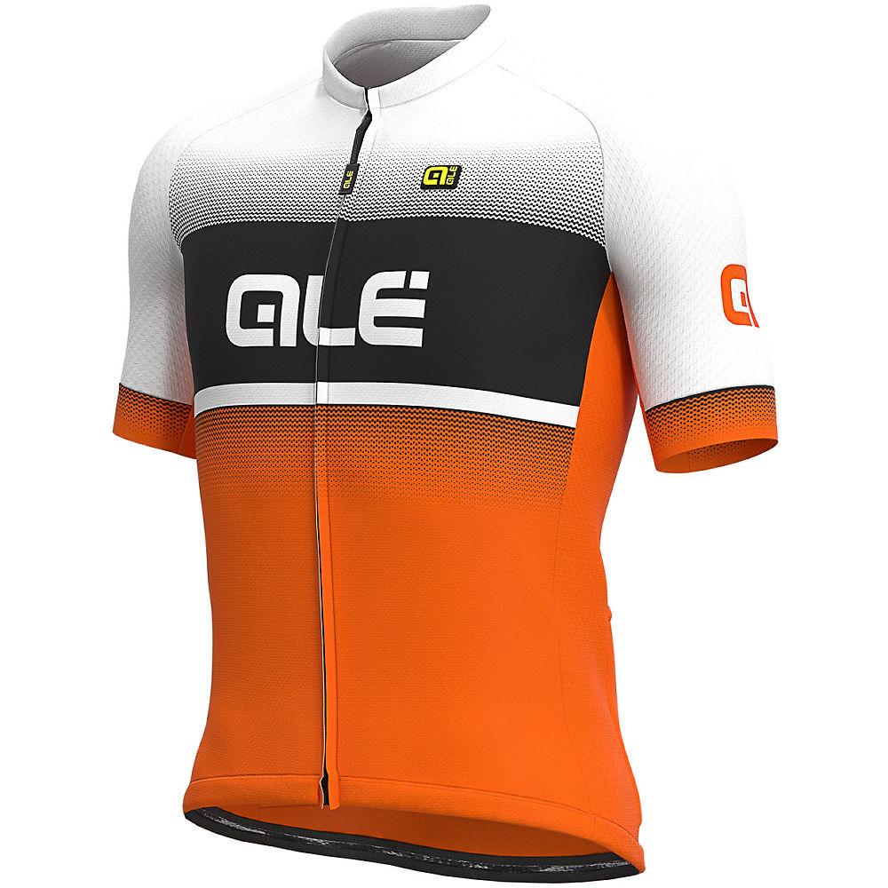 Alé Solid Blend Jersey  – Fluro Orange-Black-White – XL, Fluro Orange-Black-White