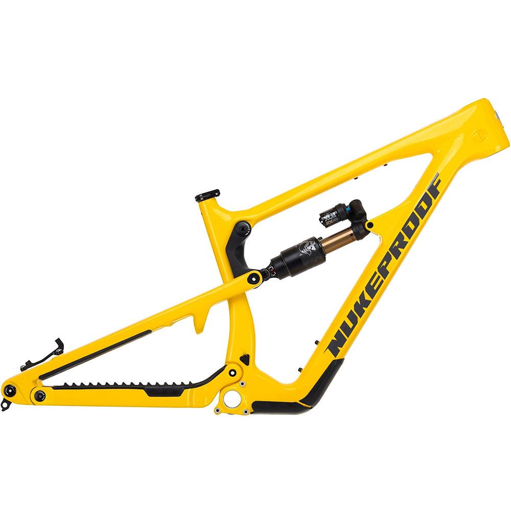 Cuadro de bicicleta de montaña de carbono Nukeproof Mega 275 2021 - Amarillo - XL, Amarillo