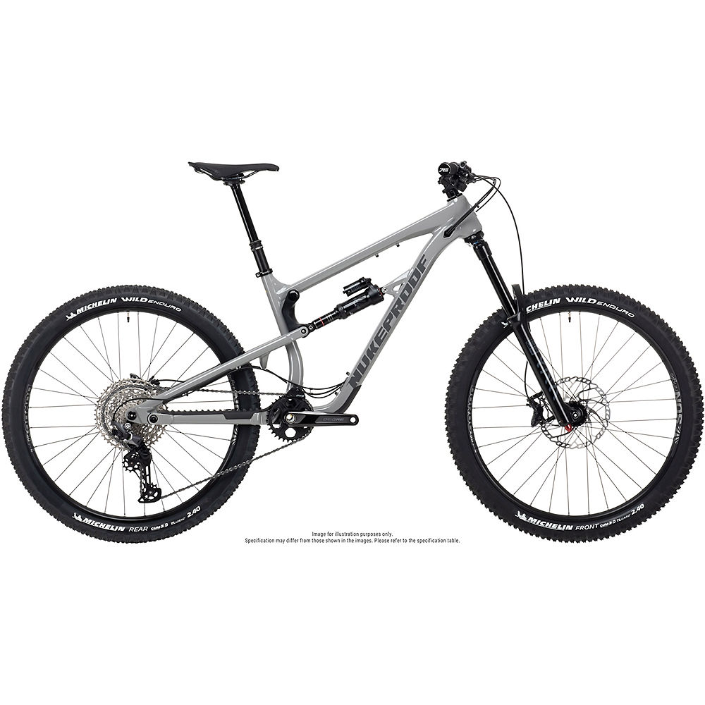Bicicleta de aleación Nukeproof Mega 275 Comp (Deore) 2021 - Concrete Grey, Concrete Grey