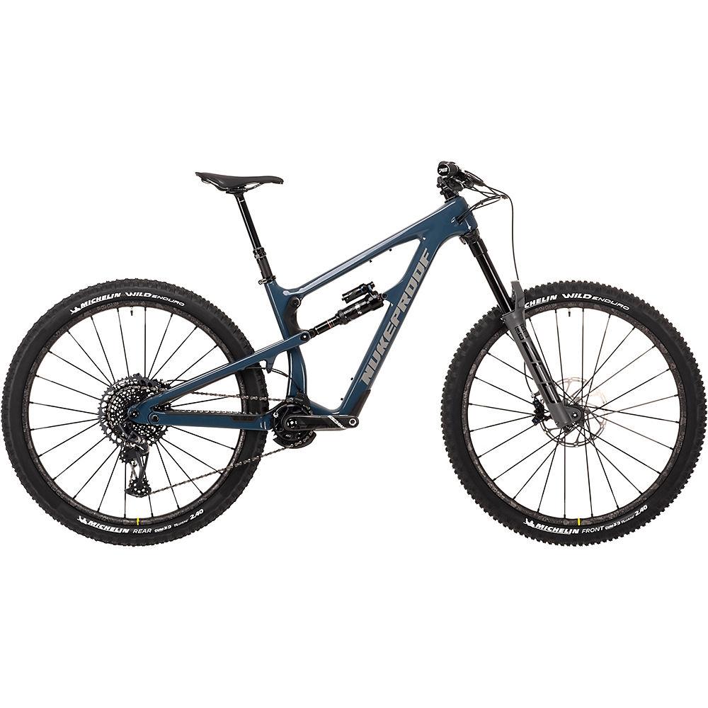 Bicicleta de carbono Nukeproof Mega 290 RS (X01 Eagle) 2021 - Bottle Blue, Bottle Blue