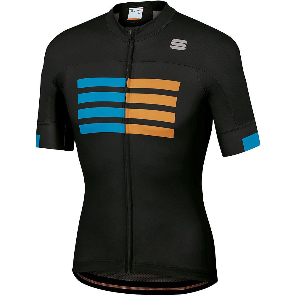 Sportful Wire Jersey  – Black-Blue Atomic-Gold – XL, Black-Blue Atomic-Gold