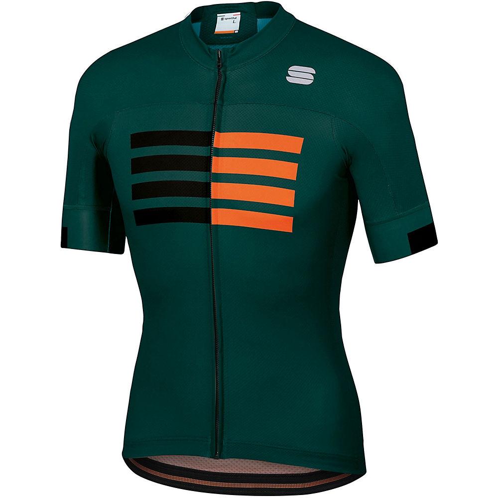 Sportful Wire Jersey  – Sea Moss-Black-Orange SDR, Sea Moss-Black-Orange SDR