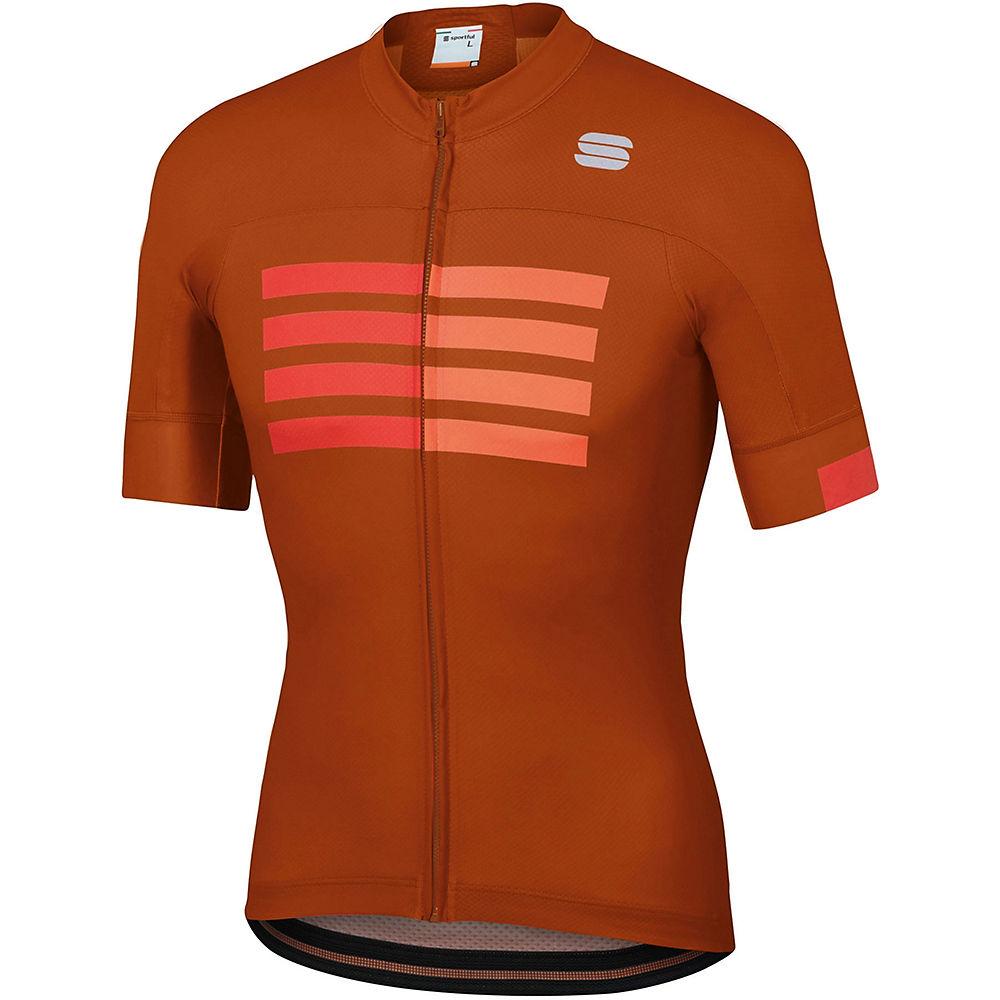 Sportful Wire Jersey  – Sienna-Fire Red-Orange SDR – XL, Sienna-Fire Red-Orange SDR