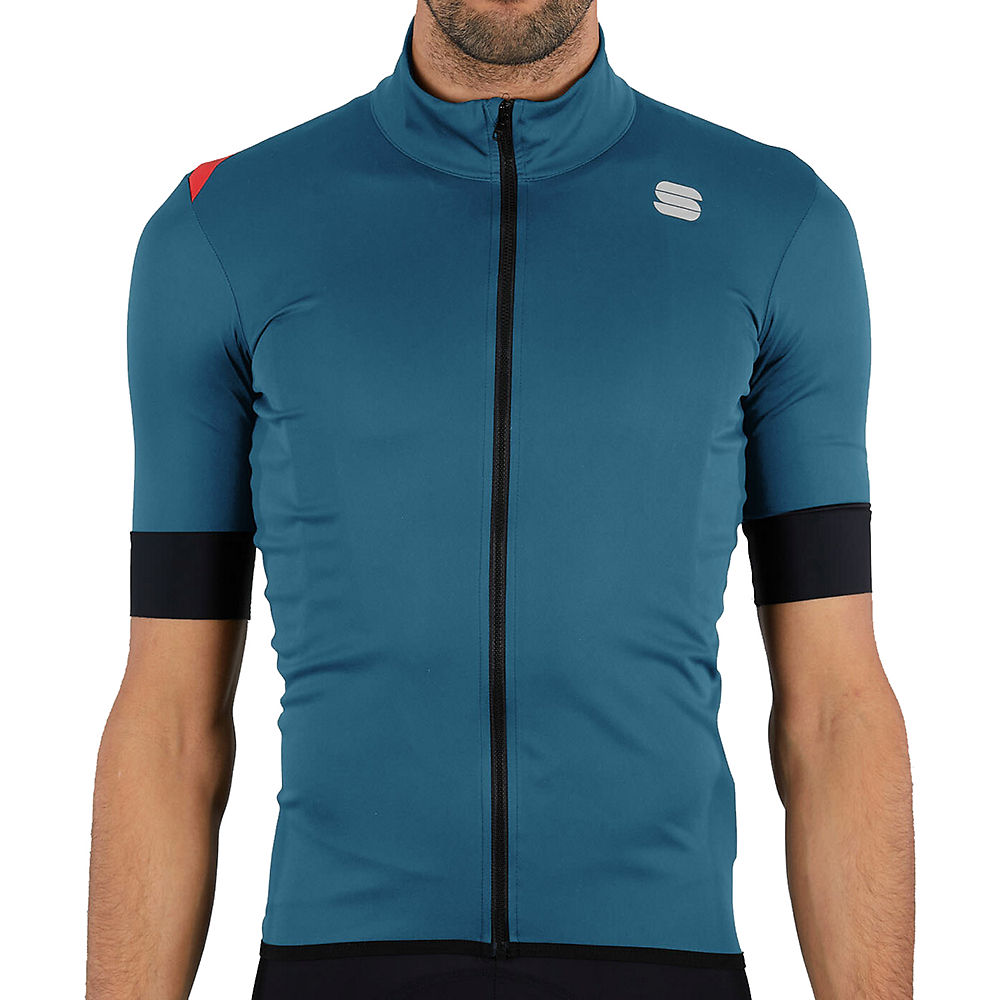 Sportful Fiandre Light NoRain Short Sleeve Jacket - Blue Sea - M, Blue Sea