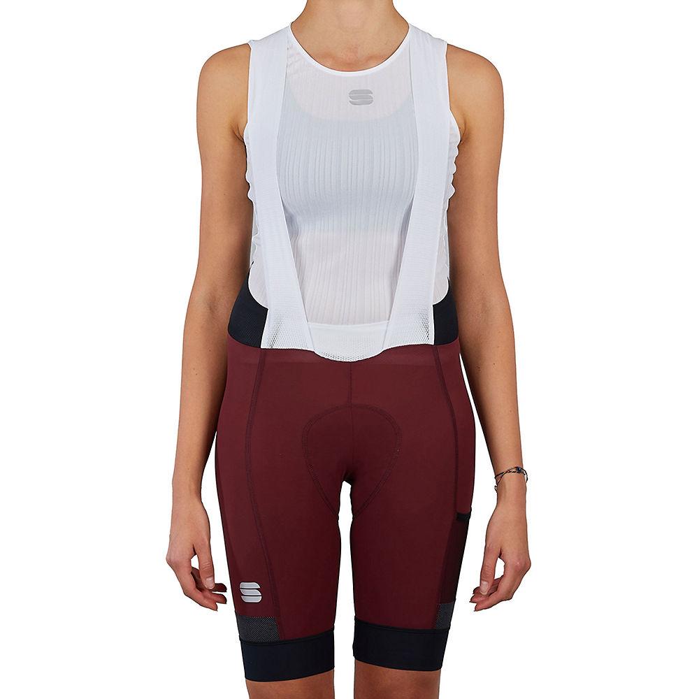 Sportful Womens Supergiara Bib Shorts  - Red Wine  Red Wine