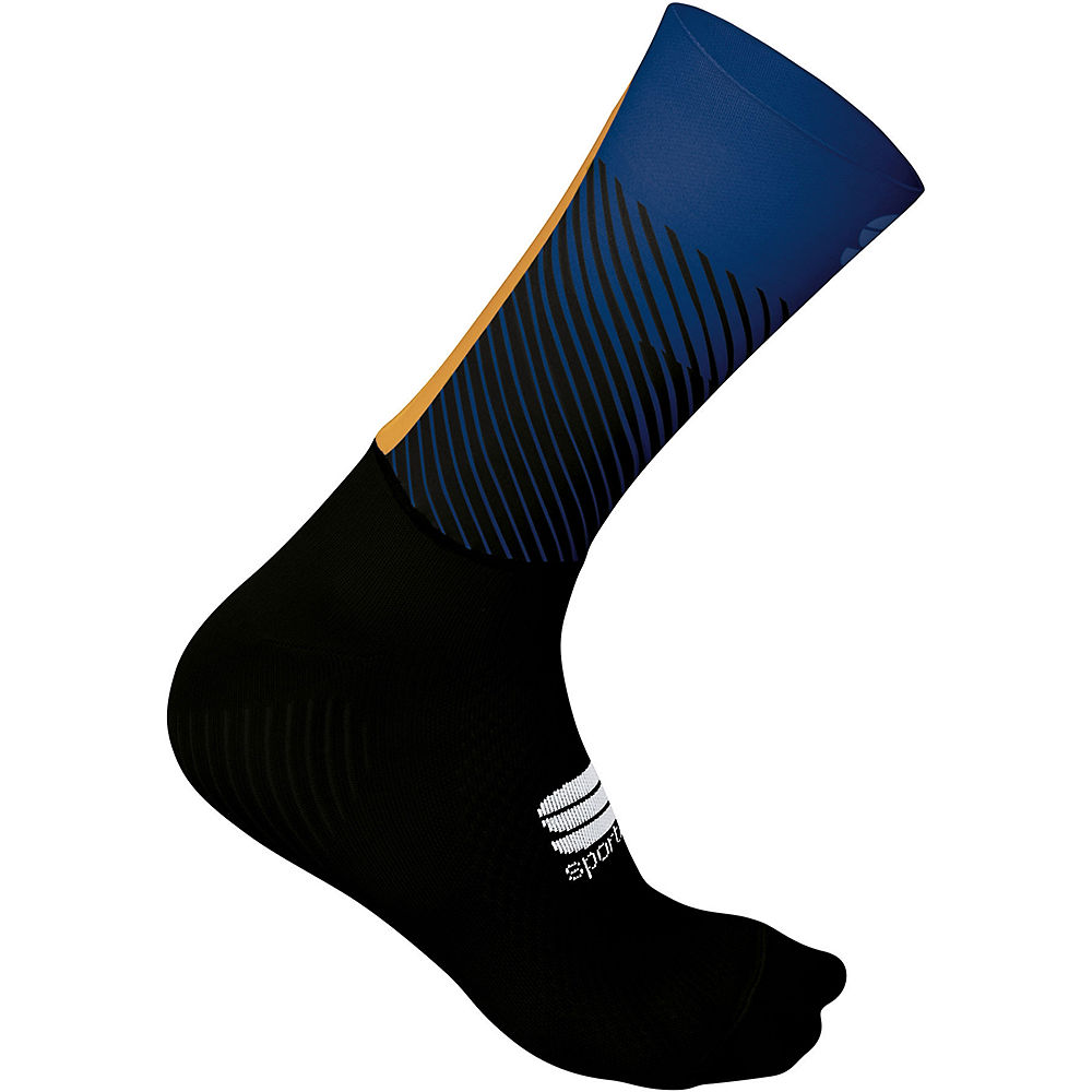 Sportful Evo Socks  - Black-blue Twilight-gold  Black-blue Twilight-gold