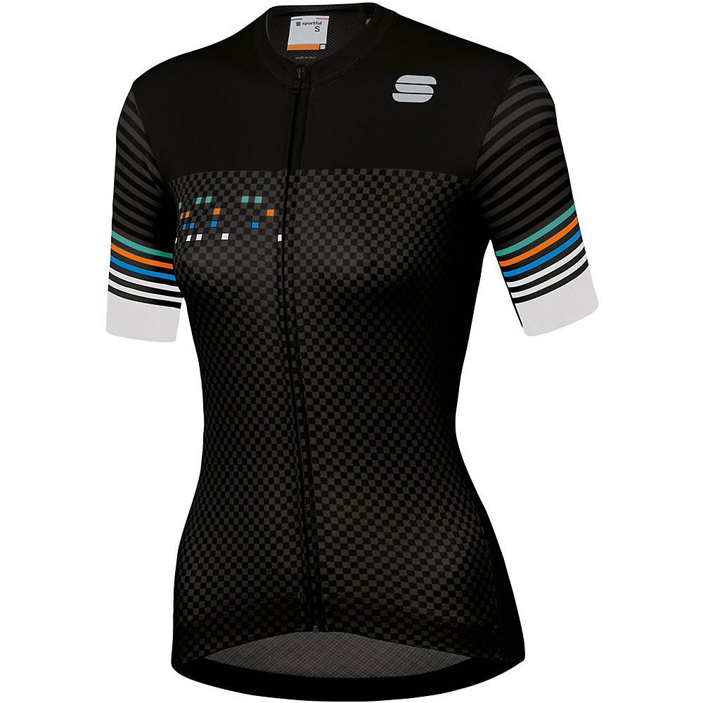 Sportful Womens Sticker Jersey  - Black-anthracite-white - Xxl  Black-anthracite-white