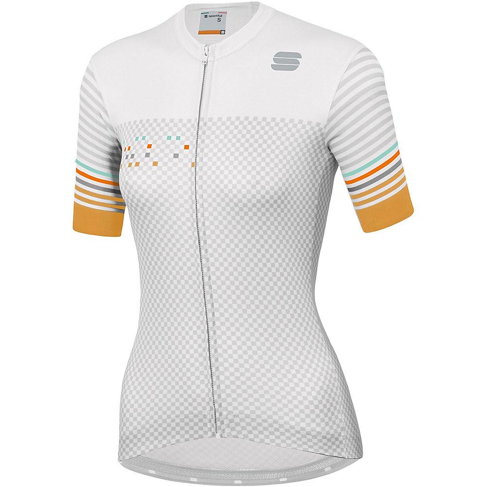 Sportful Womens Sticker Jersey  - White-silver-gold  White-silver-gold