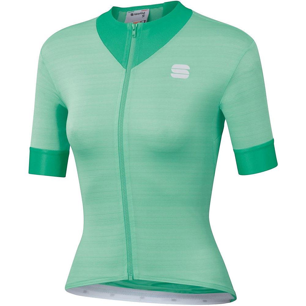 Sportful Womens Kelly Short Sleeve Jersey - Green - Xs  Green