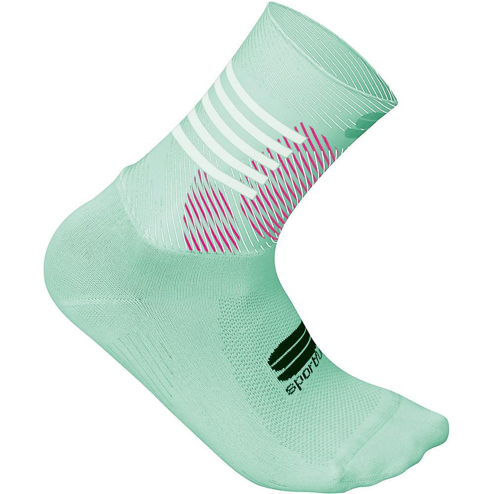Sportful Womens Oasis Socks  - Acqua Green-bubble Gum-white - L/xl/xxl  Acqua Green-bubble Gum-white