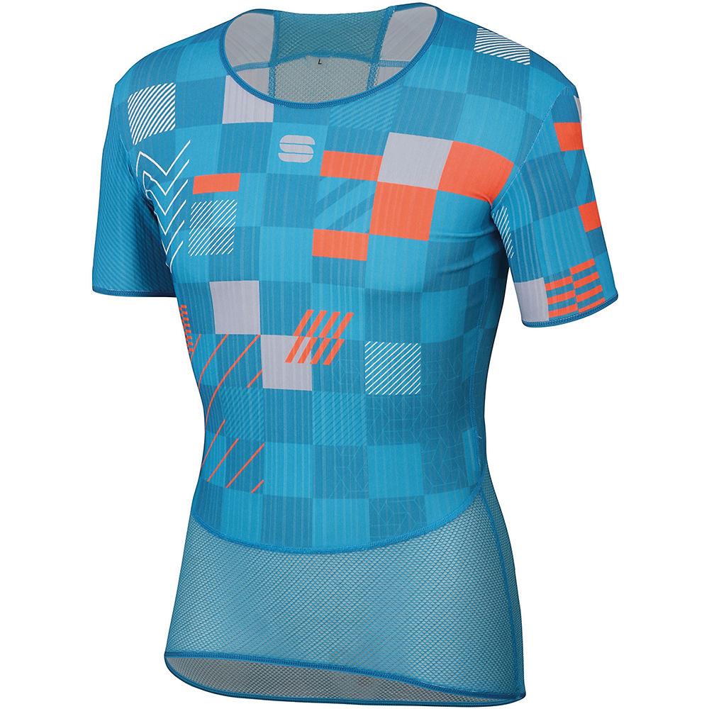 Sportful Bodyfit Pro Baselayer Tee  - Blue Atomic-blue Methyl-orange Sdr - 2xs  Blue Atomic-blue Methyl-orange Sdr