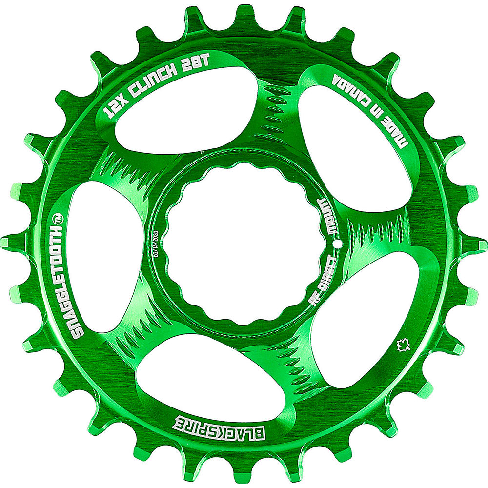 Blackspire Snaggletooth Cinch Shimano Chainring - Lime Green - Direct Mount, Lime Green