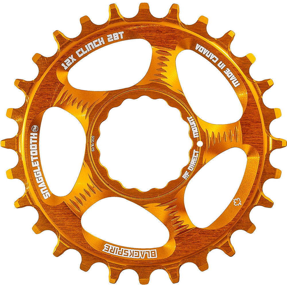 Blackspire Snaggletooth Cinch Shimano Chainring - Orange - Direct Mount, Orange