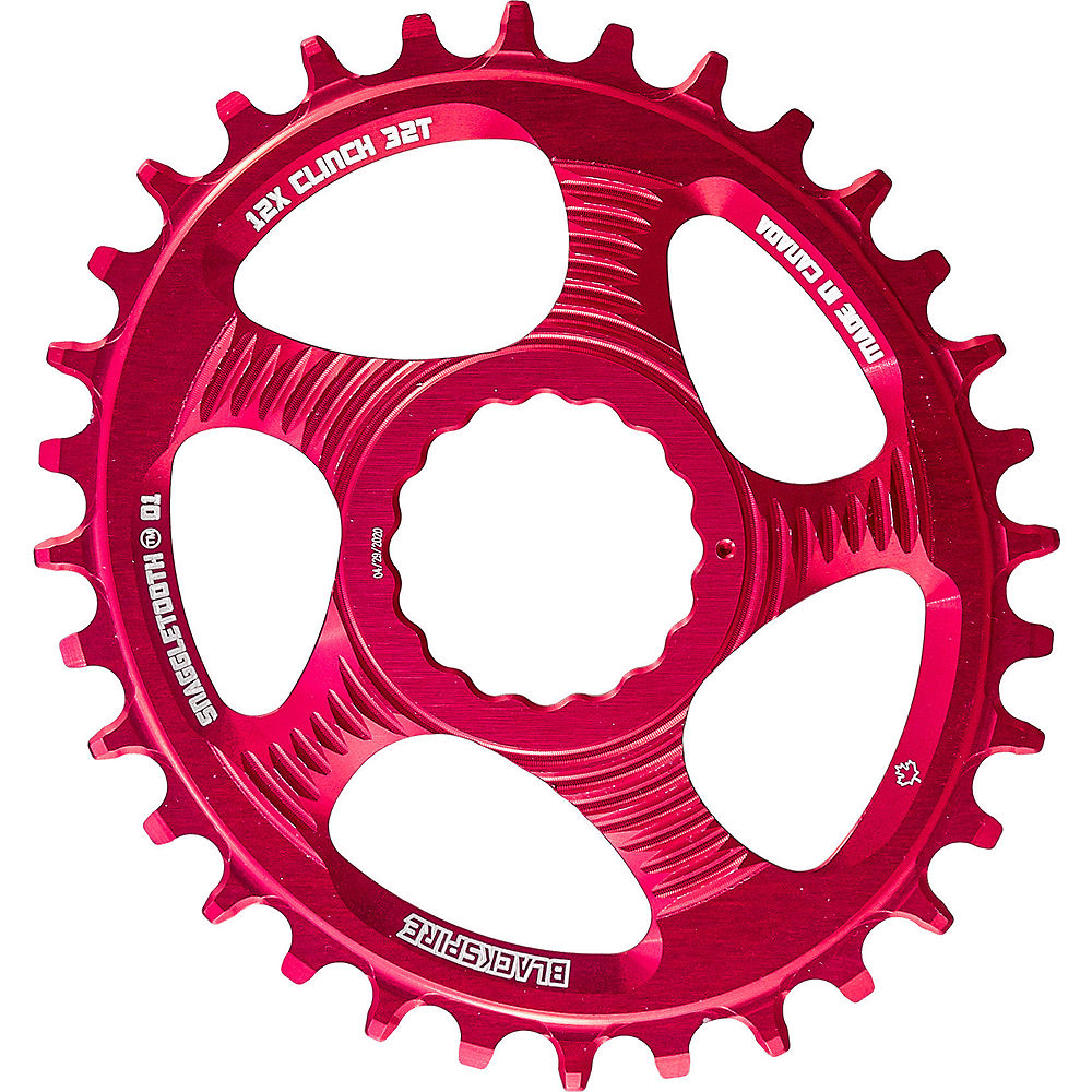 Blackspire Snaggletooth Cinch Shimano Ova Chainring - Red - Direct Mount, Red