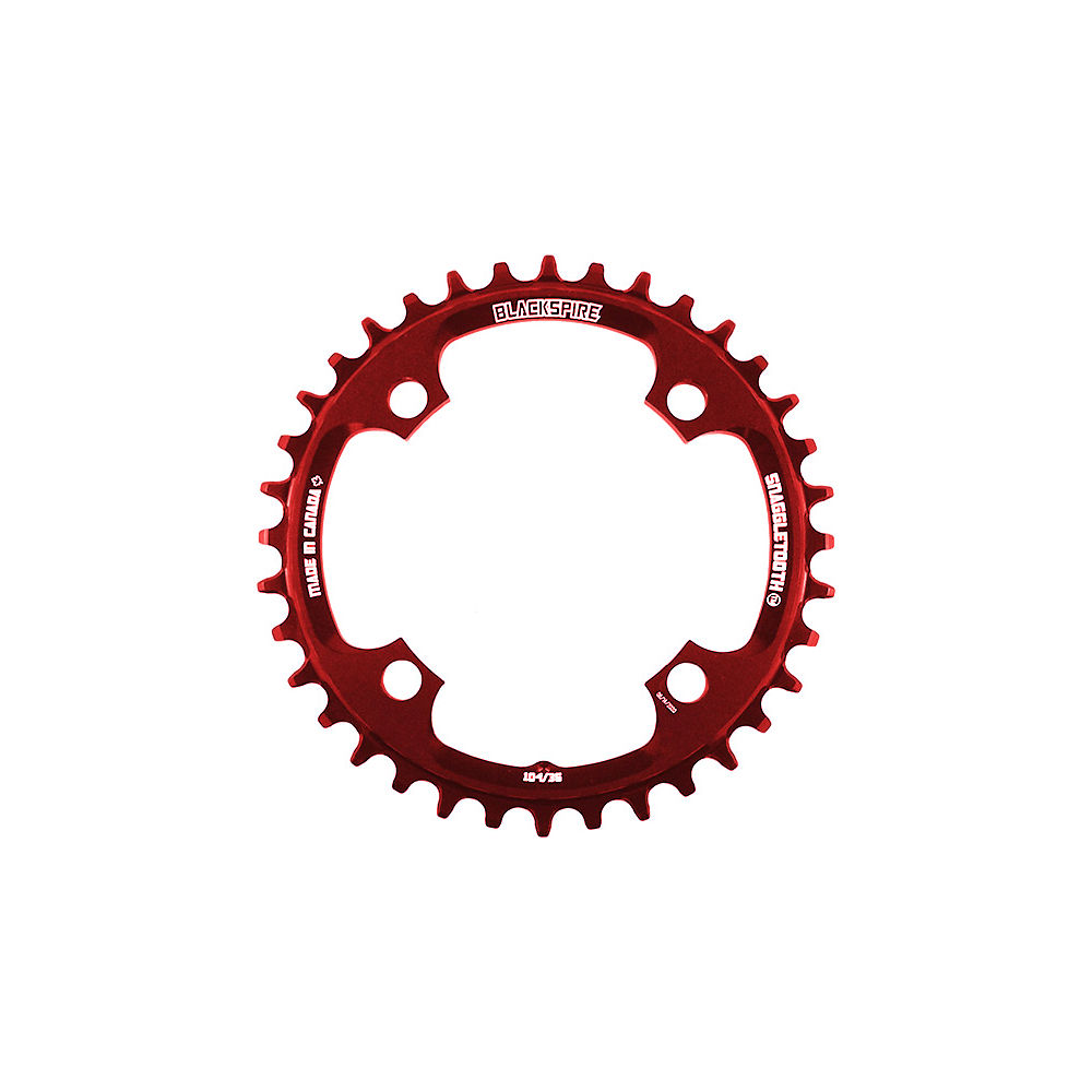 Blackspire Snaggletooth 104 Shimano Chainring - Red - 4-Bolt, Red