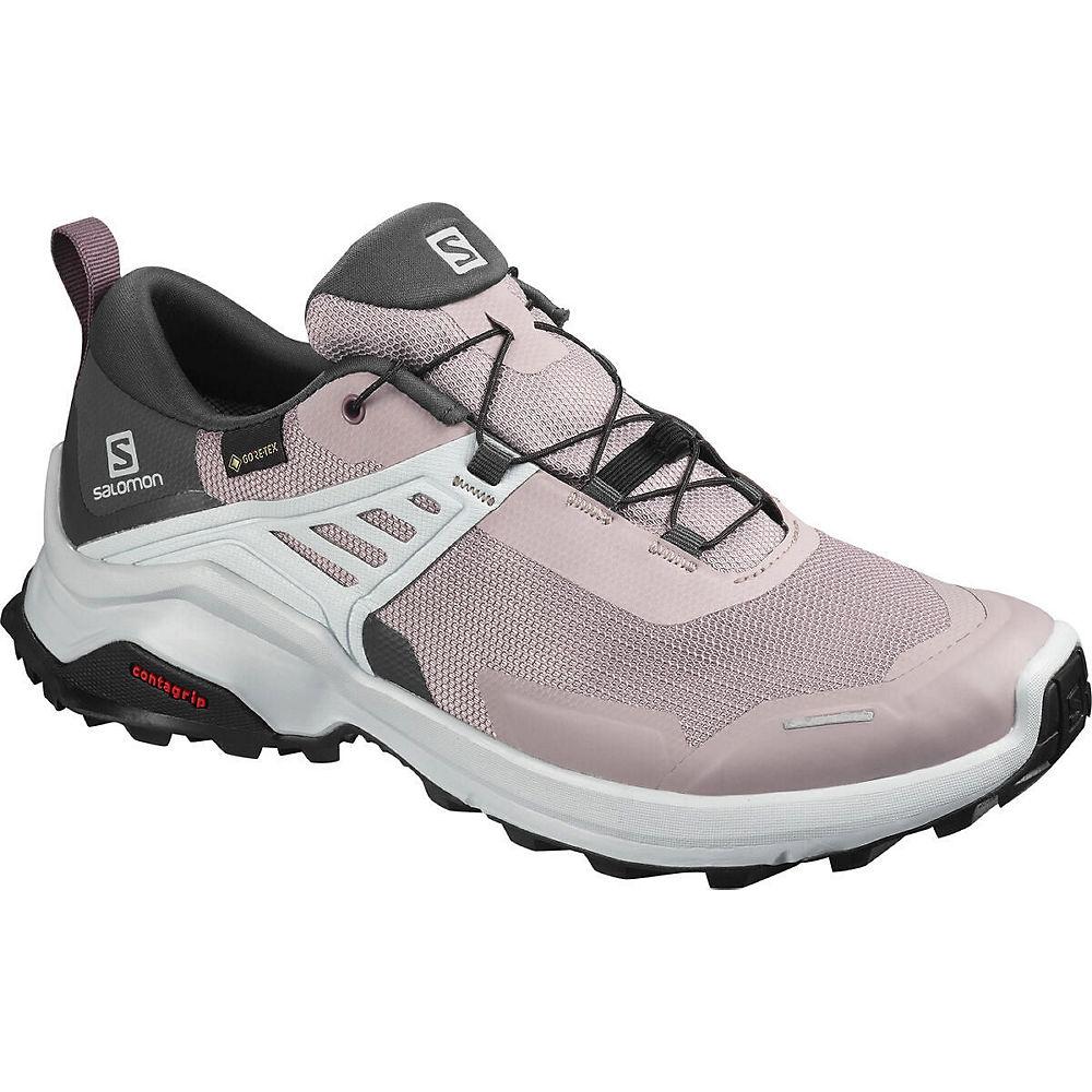 Image of Salomon Women's X Raise Gore-Tex Shoes - Quail-India Ink - UK 6, Quail-India Ink