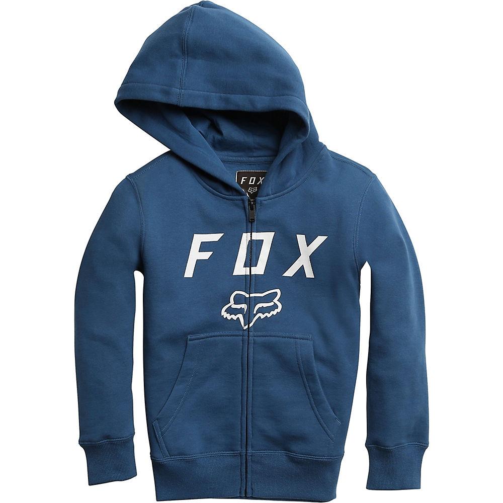 Fox Racing Youth Legacy Moth Zip Fleece Hoodie  - Dusty Blue, Dusty Blue