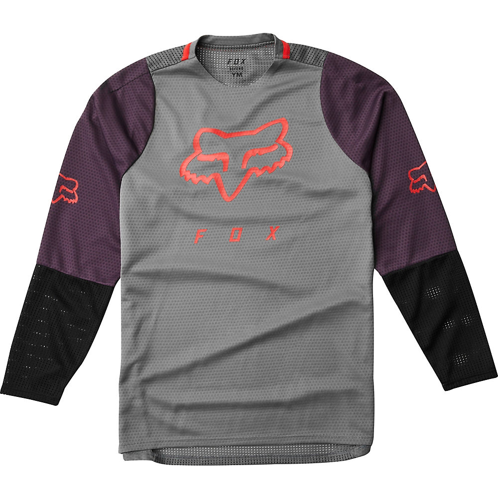 Fox Racing Youth Defend Long Sleeve Jersey  - Pewter, Pewter