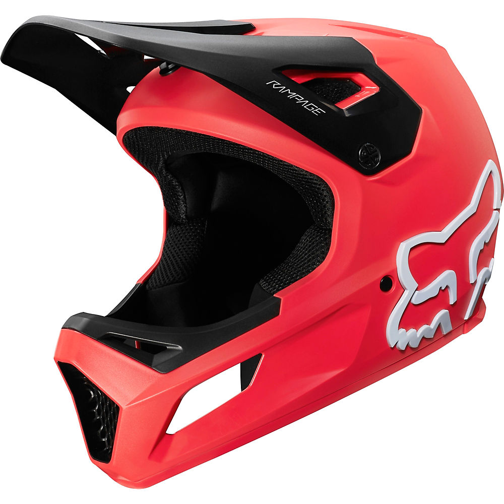 Fox Racing Youth Rampage MTB Helmet  - Rojo brillante, Rojo brillante