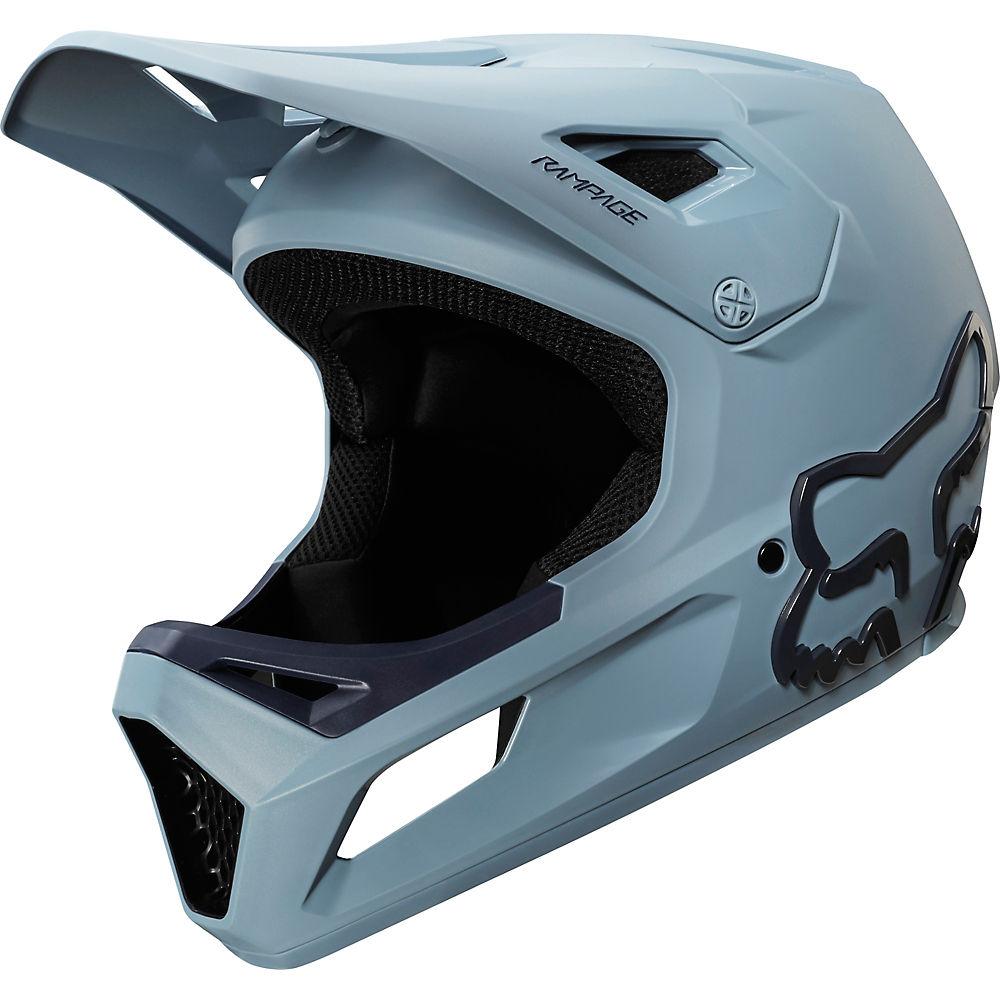 Fox Racing Youth Rampage MTB Helmet  - Light Blue-Navy, Light Blue-Navy