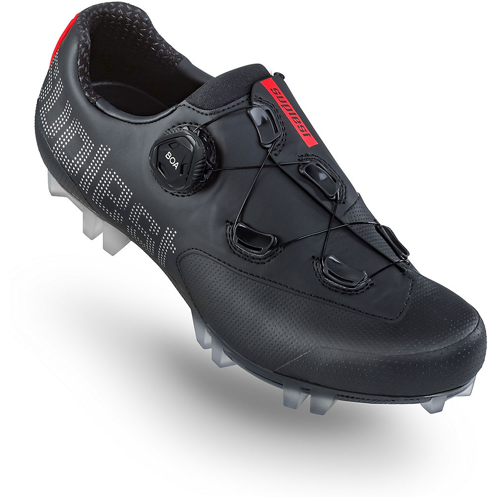Suplest Edge+ Cross Country Sport MTB Shoes 2020 - Black-Silver - EU 47, Black-Silver